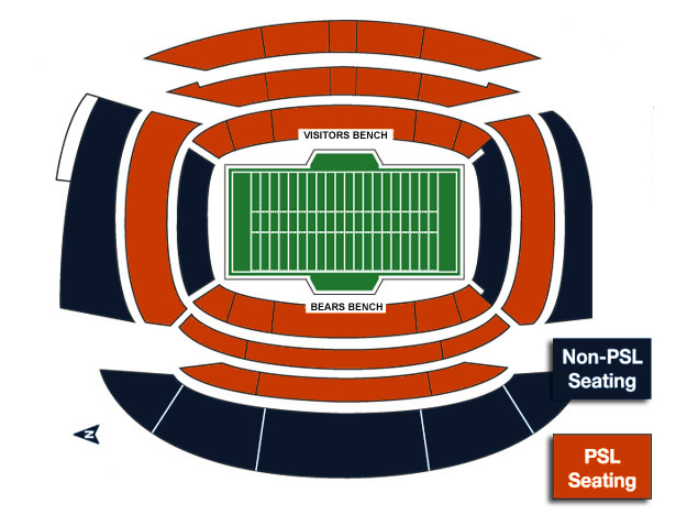 Chicago Bears PSL & Non-PSL Stadium Map